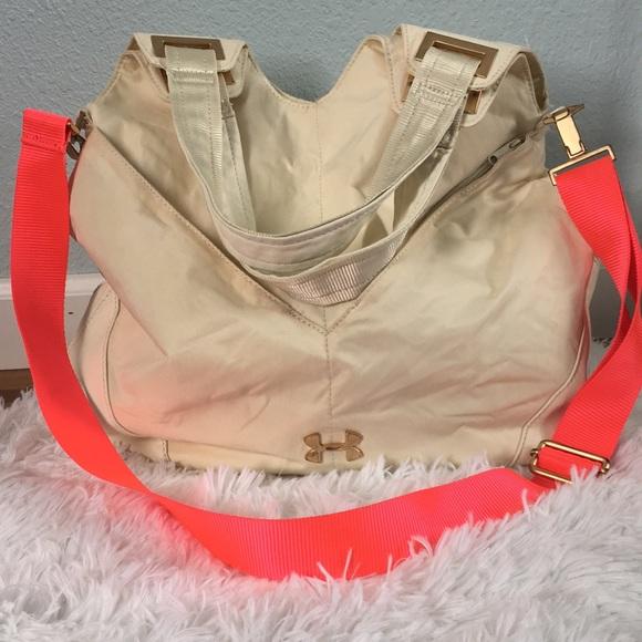 f3734fc5da67bf Under Armour Bags | Cream Neon Pink Womens Gym Bag | Poshmark